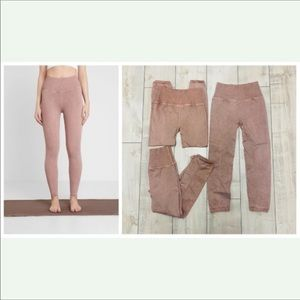 Free People Shanti Taupe Rose Leggings